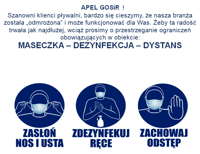 Apel GOSiR - Maseczka - Dezynfekcja - Dystans