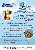 plakat Pływam bez promili