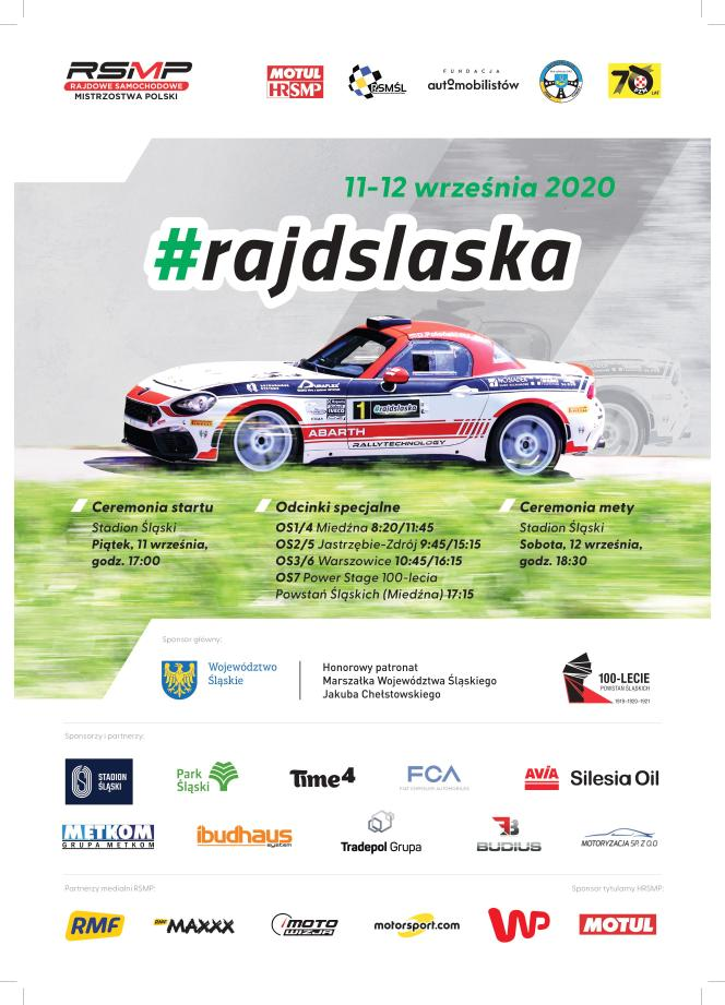 Rajd Śląska - plakat